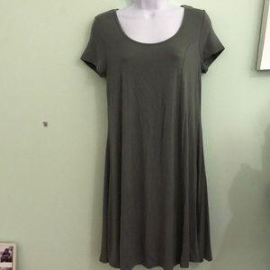 Army green midi dress